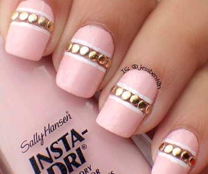 nails, pink, and design image
