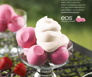 eos, pink, and strawberry image