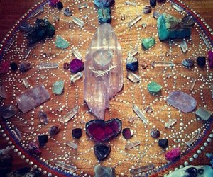 crystals, magic, and mandala image
