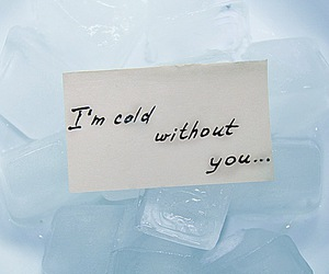 blue, cold, and couple image