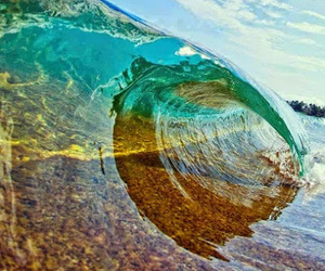 beach, surf, and water image