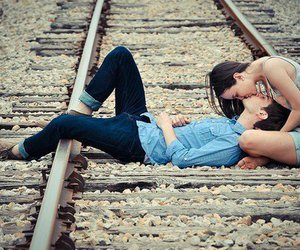 couple, kiss, and lonely image