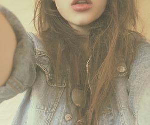 girl, lips, and style image