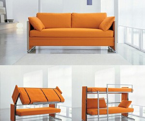 bed, sofa, and cool image