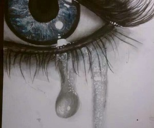 tears drawing eye image
