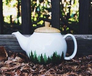 nature, tea, and teapot image