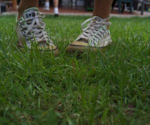 grass, photography, and shoes image