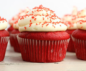 cupcake, red, and food image