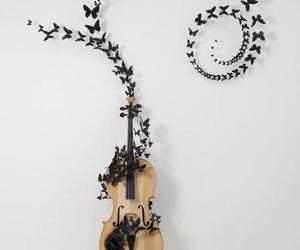 black, music, and butterflies image