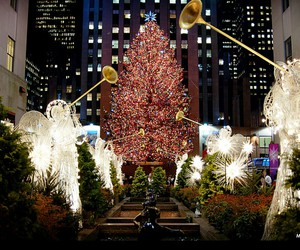 christmas, new york, and light image
