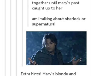 dean, mary, and fandoms image