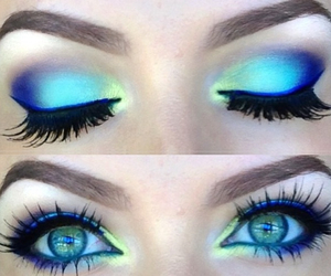 makeup, eyes, and blue image