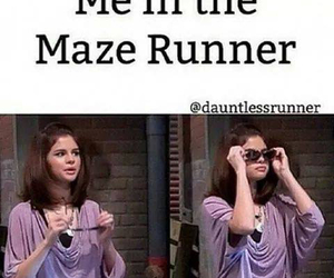 maze runner, funny, and selena gomez image