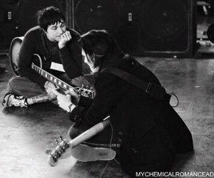 frank iero, mcr, and mikey way image