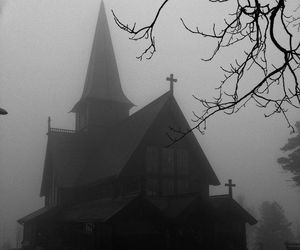 b&w, black and white, and Black Metal image