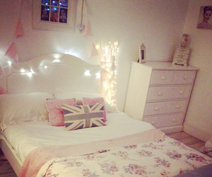 bed, british, and lights image