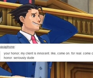 phoenix, phoenix wright, and ace attorney image