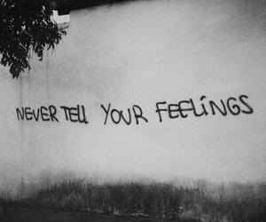 black and white, feelings, and phrase image
