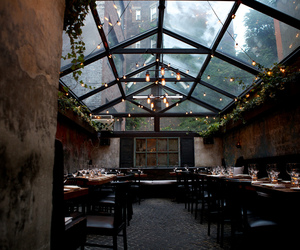 light, restaurant, and place image