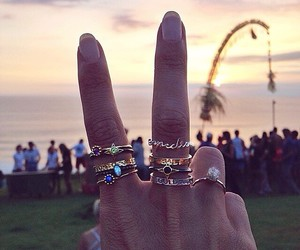 rings, peace, and summer image