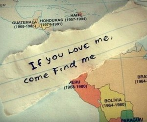 love, map, and travel image