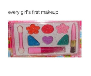 girl, makeup, and funny image