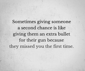 quotes, bullet, and second chance image