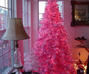girl, pink, and pink tree image