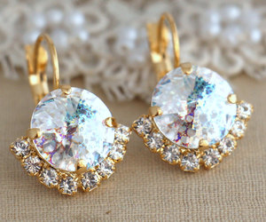 bridal, crystal, and earrings image