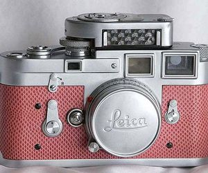 camera, pink, and leica image