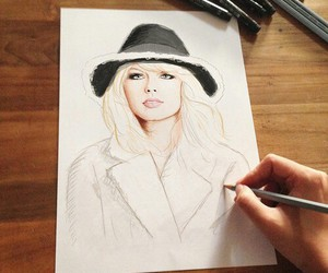 drawing, art, and Taylor Swift image