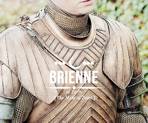 game of thrones, brienne, and of tarthm got image