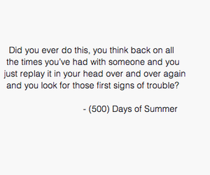 500 Days of Summer, sad, and text image