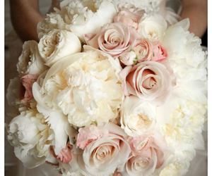 wedding, flowers, and bouquet image