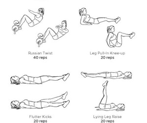 fitness, workout, and flat abs flat tummy image