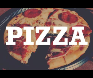 food, pizza, and love image