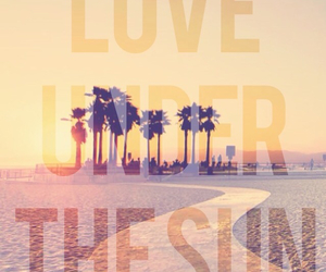 beach, love, and palms image
