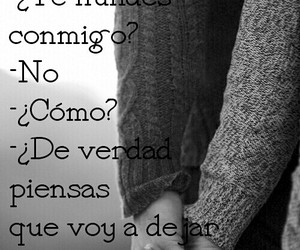 black&white, couple, and frases image