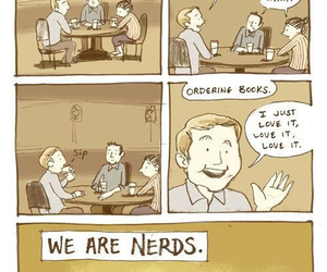 book, nerds, and funny image