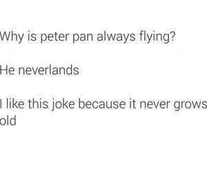peter pan, joke, and neverland image