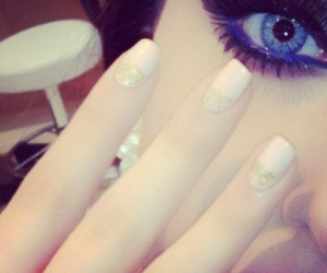 nails, eyes, and fashion image