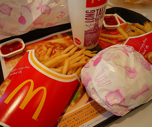 food, mc donalds, and fries image