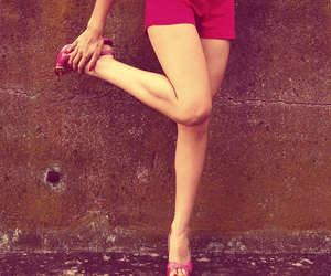girl, legs, and pink image