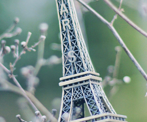 eiffel tower, small, and paris image