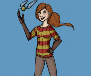 fanart, ginny weasley, and harry potter image