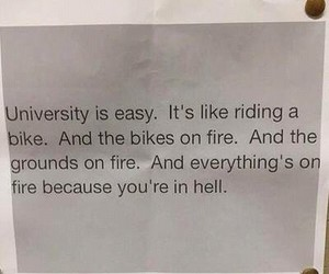 university, hell, and funny image