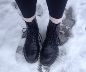 grunge, snow, and boots image