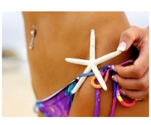 belly button piercing and starfish image