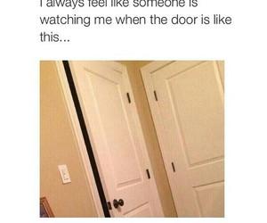 funny, the door, and true image