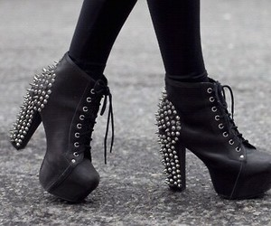 black, shoes, and metal image
